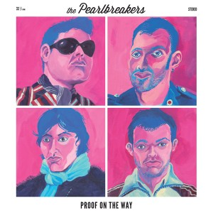 "Von Hand illustriertes Cover des Debütalbums ""Proof on the Way"" von ""The Pearlbreakers"""