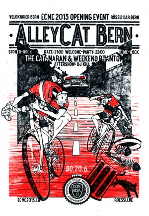 Alley-Cat-Rennen am European Cycle Messenger Championships 2013